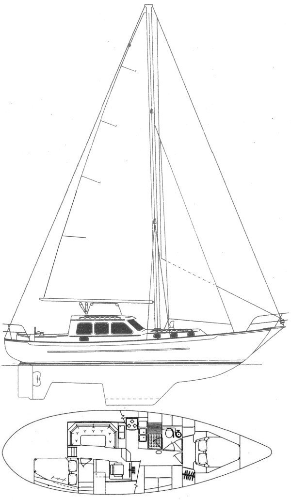 PACIFIC SEACRAFT PILOTHOUSE 40 drawing