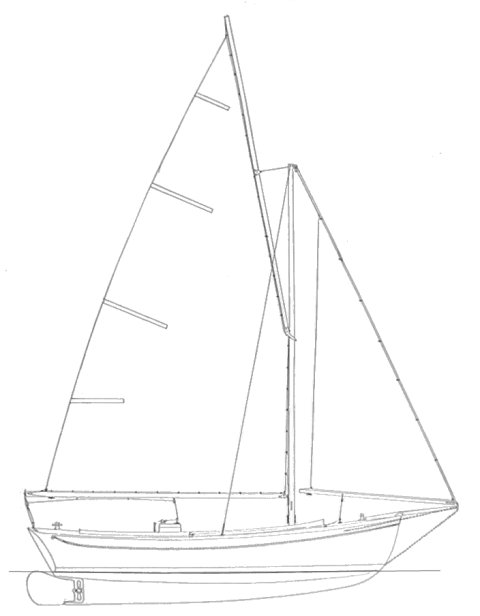 Packet (Pearson) drawing on sailboatdata.com