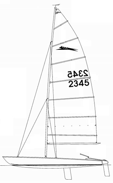 Paper Tiger drawing on sailboatdata.com
