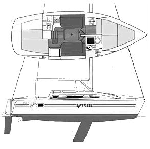 Parker 275 drawing on sailboatdata.com