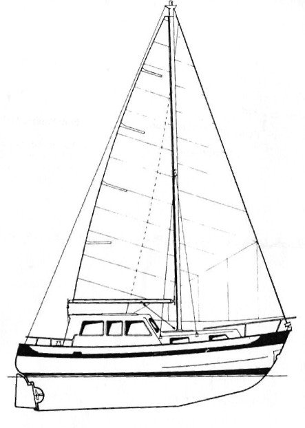 Passagemaker 33 drawing on sailboatdata.com