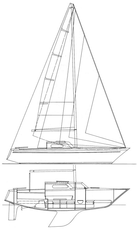 Passatore drawing on sailboatdata.com