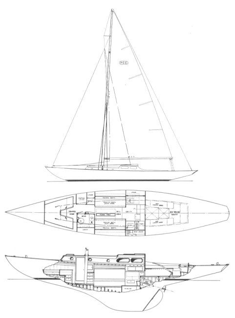 PCC drawing on sailboatdata.com