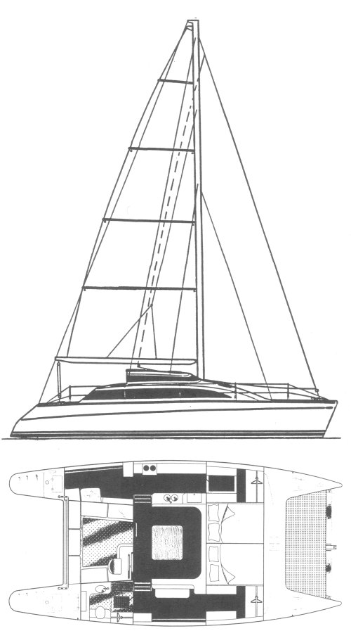 PDQ 36 Mk II drawing on sailboatdata.com