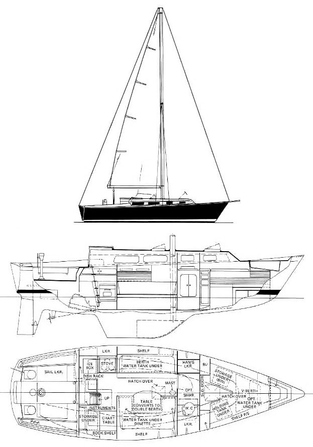 PEARSON 323 drawing