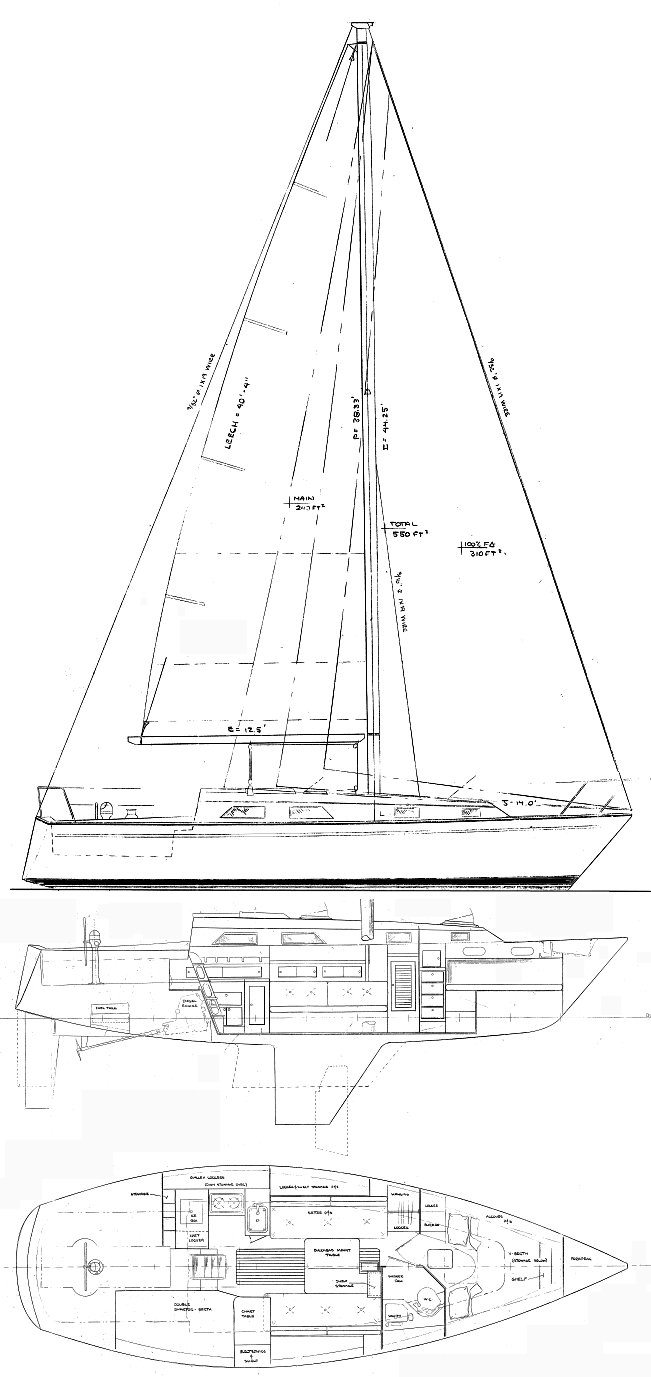 PEARSON 34 drawing