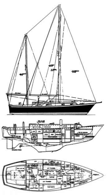 PEARSON 365 KETCH drawing
