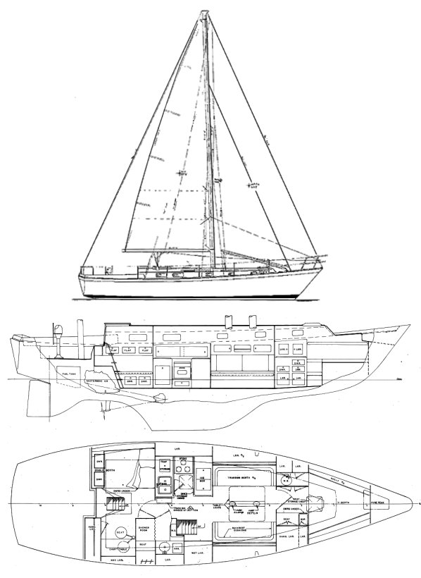 PEARSON 424 CUTTER drawing