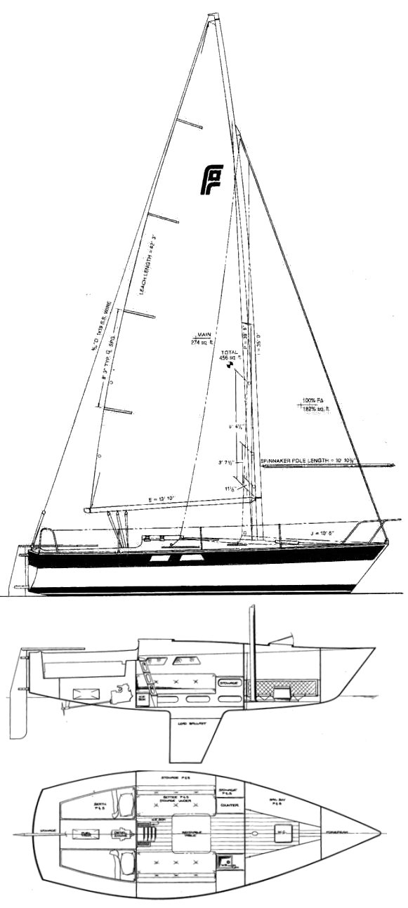 Pearson Flyer drawing on sailboatdata.com