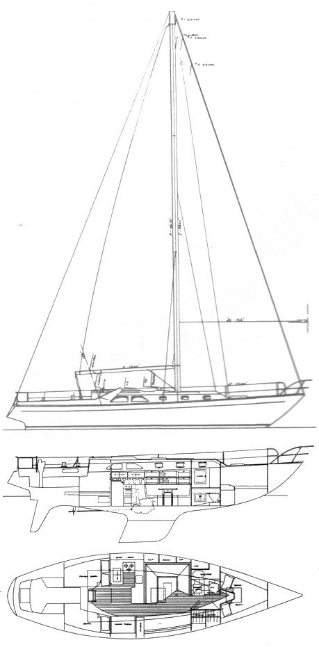 PH 41 drawing on sailboatdata.com