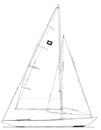 Piper One-Design drawing on sailboatdata.com