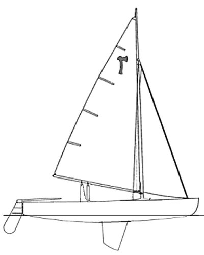 Pirate Dinghy drawing on sailboatdata.com