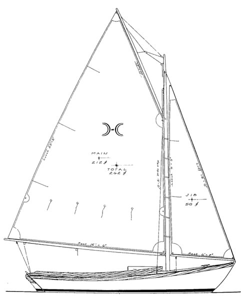 Pisces 21 drawing on sailboatdata.com