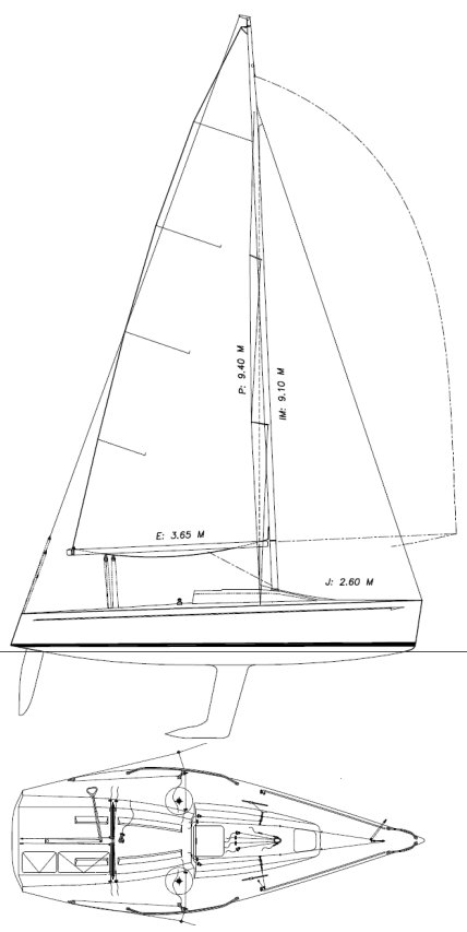 Platu 25 drawing on sailboatdata.com