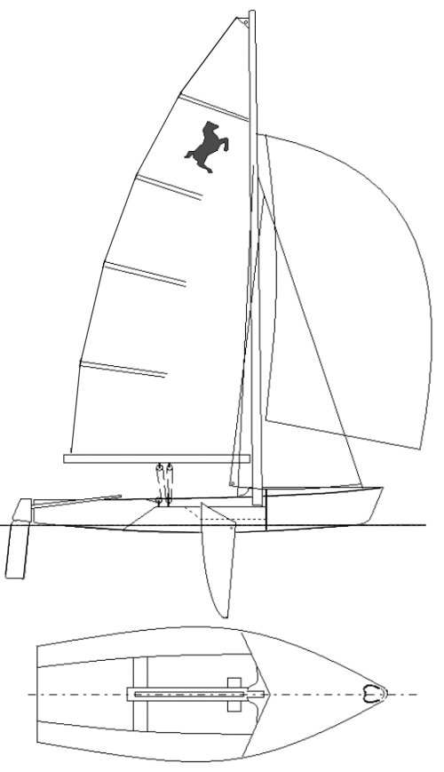 Ponant drawing on sailboatdata.com