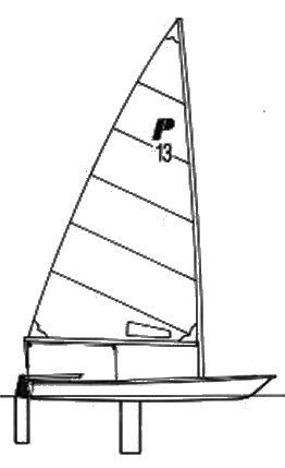 Precision 13 drawing on sailboatdata.com