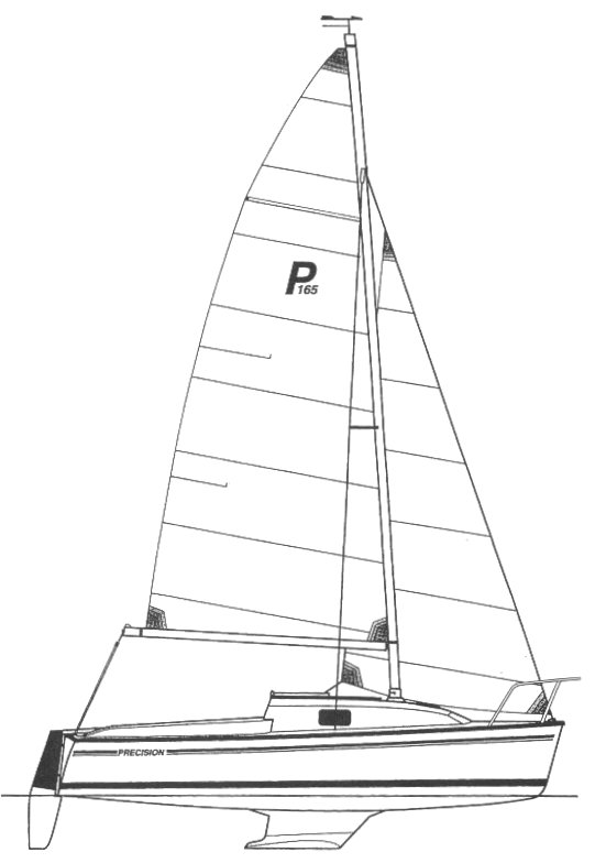 Precision 165 drawing on sailboatdata.com