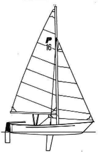 Precision 16 drawing on sailboatdata.com