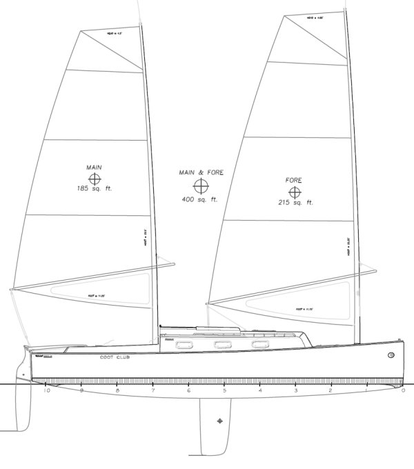 Presto 30 drawing on sailboatdata.com