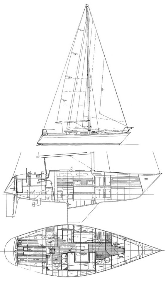 Pretorien 35 (Wauquiez) drawing on sailboatdata.com