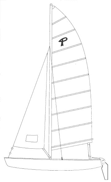 Prindle Escape drawing on sailboatdata.com