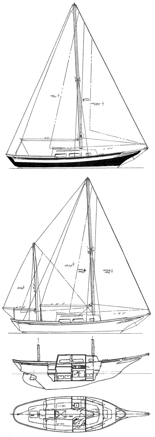 Privateer 26 drawing on sailboatdata.com