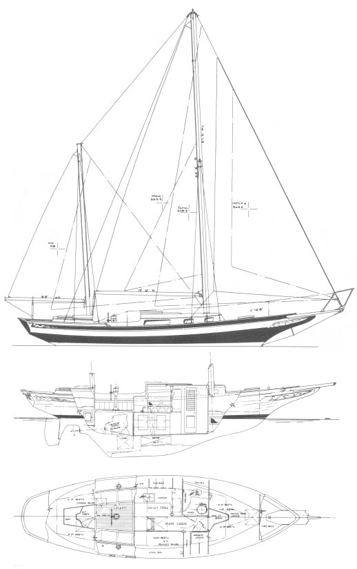 PRIVATEER 35 drawing