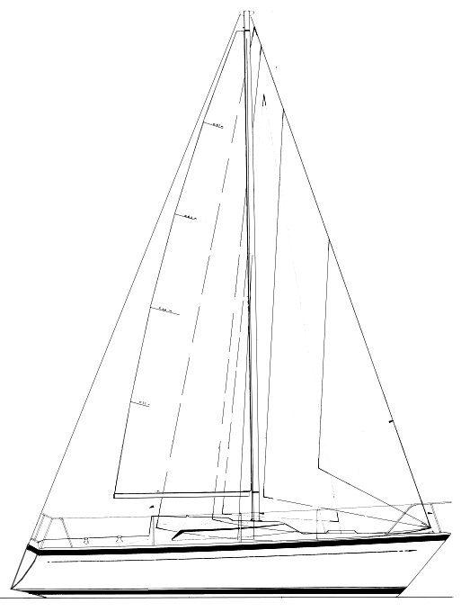 Prospect 900 drawing on sailboatdata.com