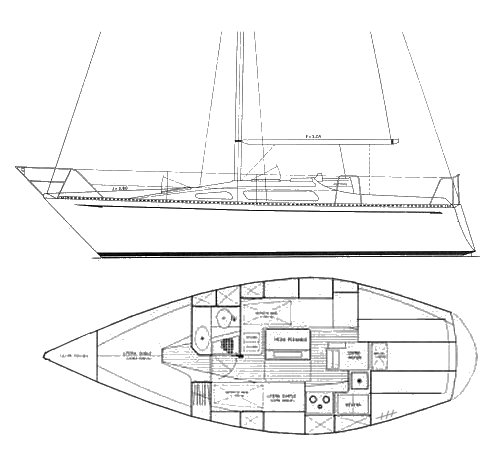 Puma 29 drawing on sailboatdata.com