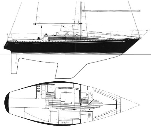 Puma 341 drawing on sailboatdata.com