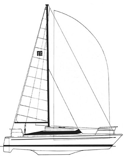 Quest 33 (Prout) drawing on sailboatdata.com