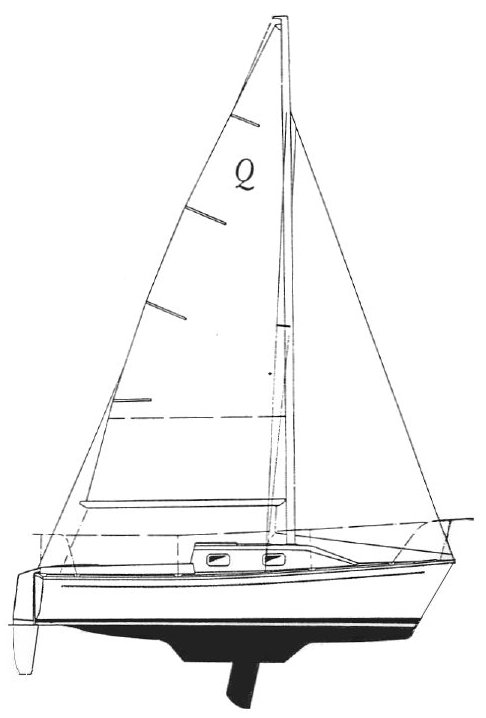 Quickstep 21 drawing on sailboatdata.com