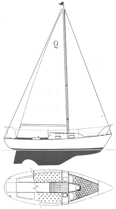 Quickstep 24 drawing on sailboatdata.com