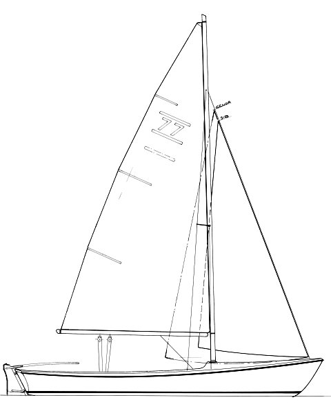 Randmeer drawing on sailboatdata.com