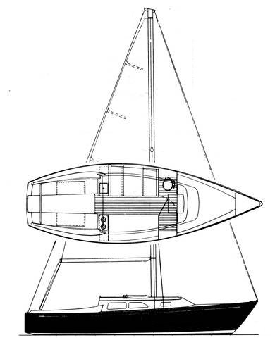 Ranger 26 drawing on sailboatdata.com