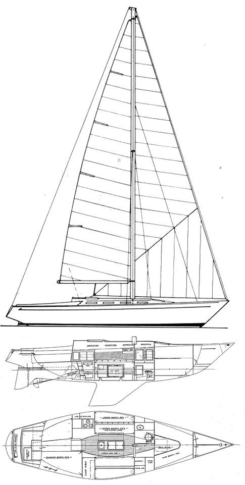 Ranger One-Ton drawing on sailboatdata.com