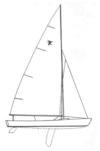 Raven Drawing on sailboatdata.com