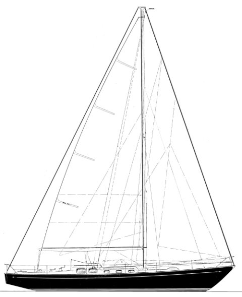 Rebel 41 drawing on sailboatdata.com