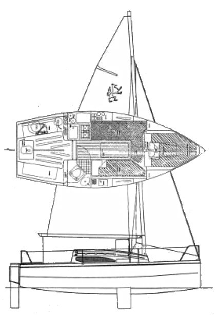 Red Fox 200E drawing on sailboatdata.com