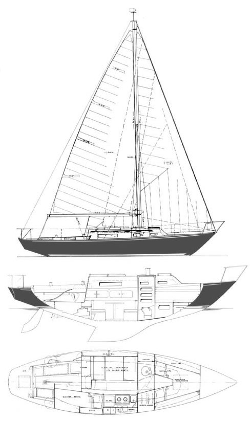 Redwing 30 drawing on sailboatdata.com