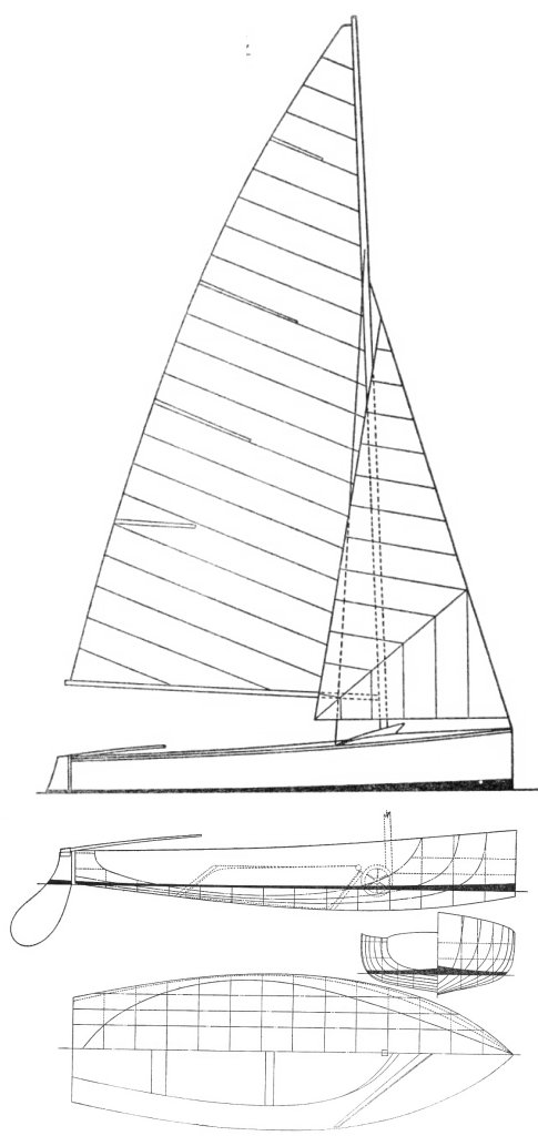 Redwing Dinghy drawing on sailboatdata.com