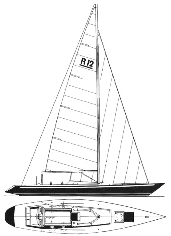 Reliance 12 drawing on sailboatdata.com