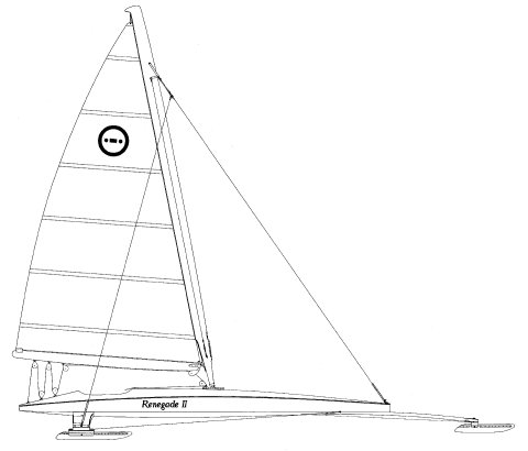 Renegade Iceboat drawing on sailboatdata.com