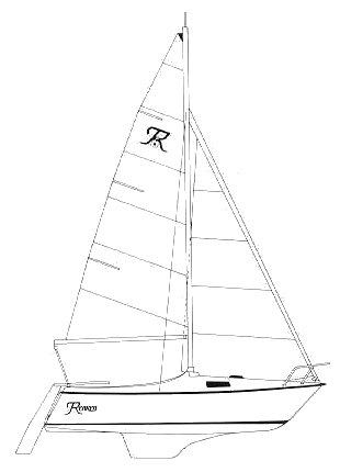 Renkin 18 drawing on sailboatdata.com