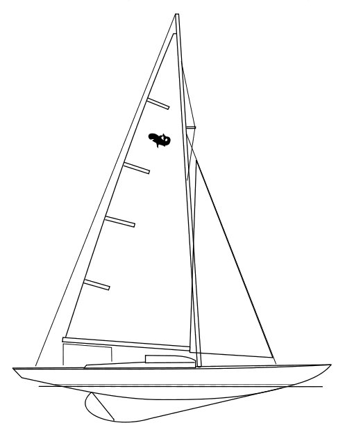 Requin drawing on sailboatdata.com