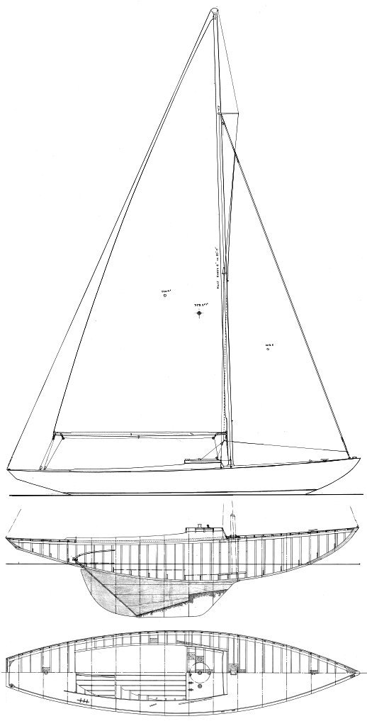 Resolute (Tripp) drawing on sailboatdata.com
