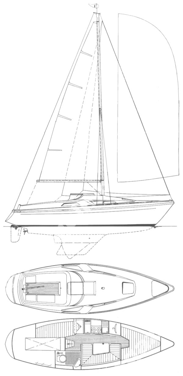 RETHANA 27 sailboat specifications and details on