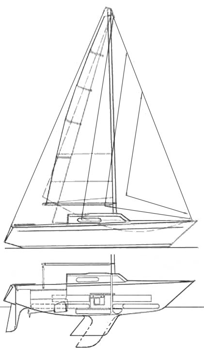 Reve de Mer drawing on sailboatdata.com