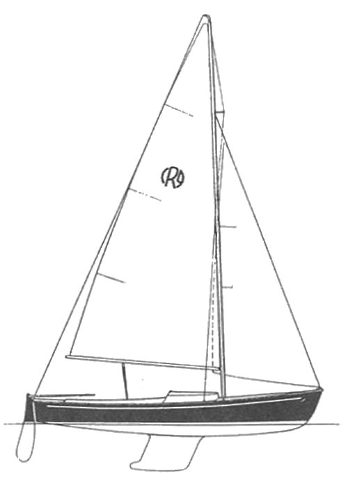 Rhodes 19 FK drawing on sailboatdata.com