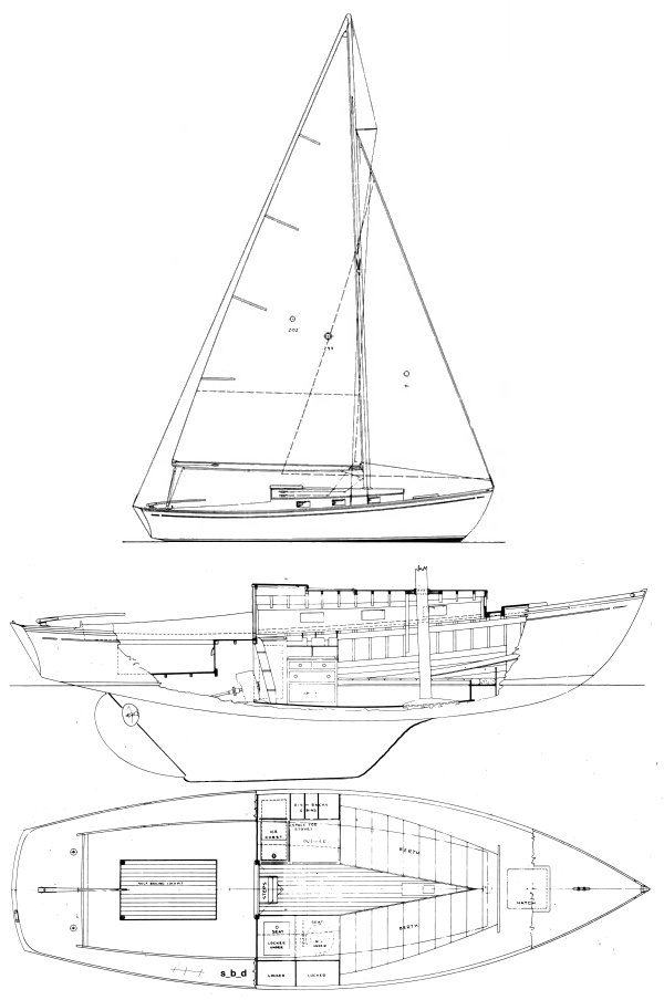 Rhodes Idler drawing on sailboatdata.com